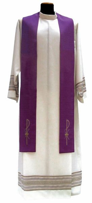 #1205 Chi Rho Overlay Stole | 100% Poly | All Colors