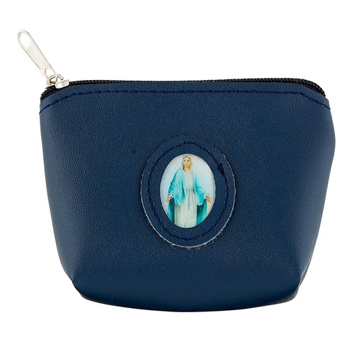 Our Lady of Grace Medallion Rosary Case