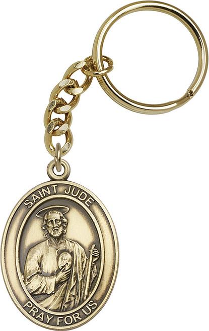 St. Jude Gold Finish Keychain