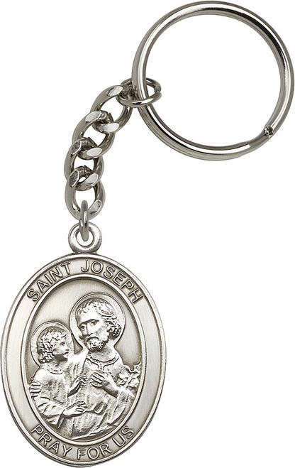 St. Joseph Silver Finish Keychain