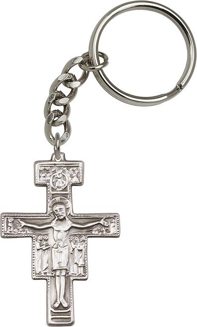 San Damiano Silver Finish Keychain