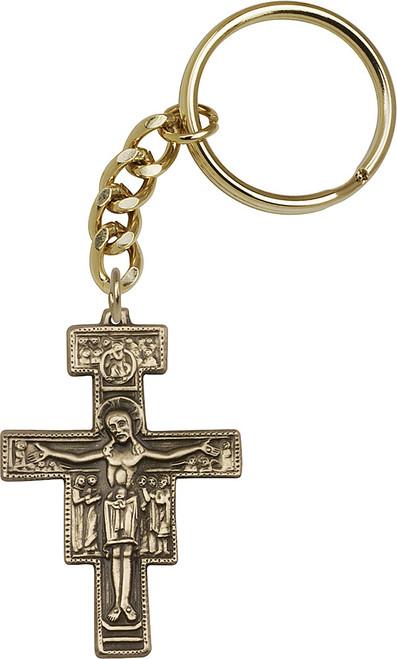 San Damiano Gold Finish Keychain