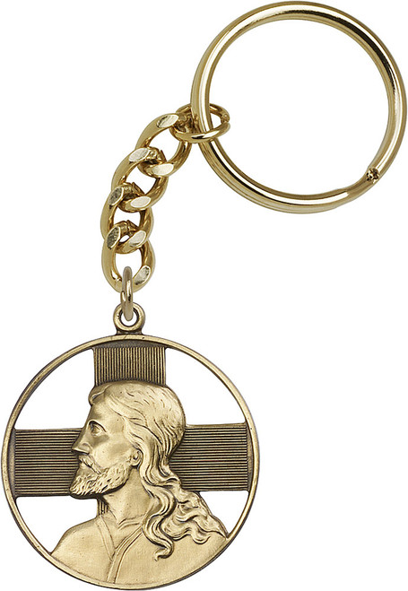 Christ Gold Finish Keychain