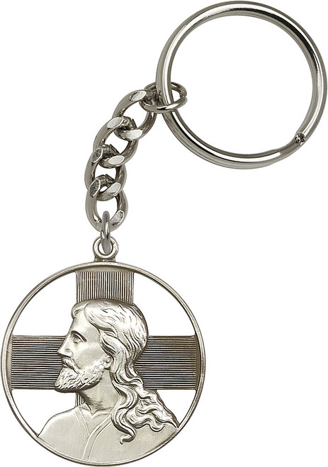 Christ Silver Finish Keychain