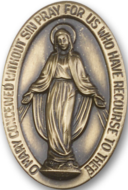 Miraculous Medal Visor Clip | Multiple Finishes Available