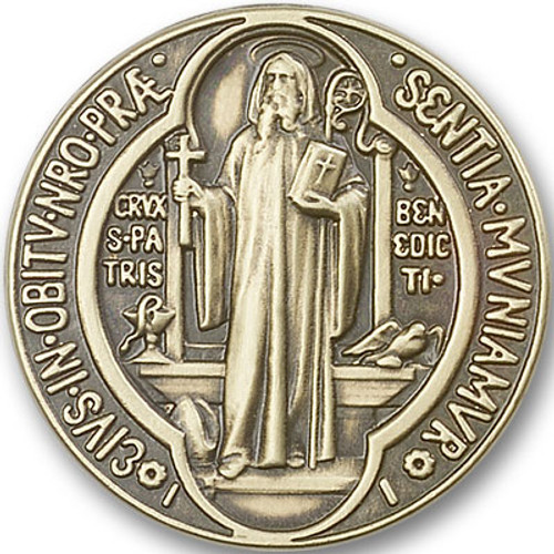 St. Benedict Medallion Visor Clip | Multiple Finishes Available