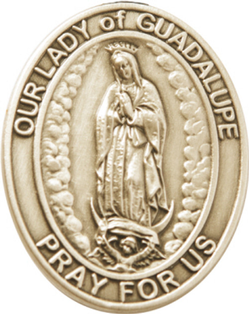 Our Lady of Guadalupe Visor Clip | Multiple Finishes Available