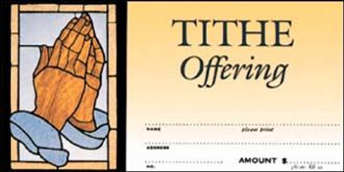 Tithe Offering Envelope with Praying Hands | Pack of 100