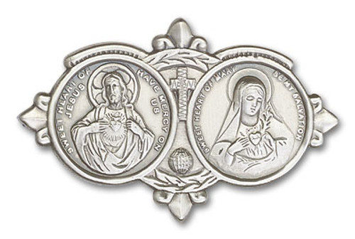 Jesus & Mary Visor Clip | Multiple Finishes Available