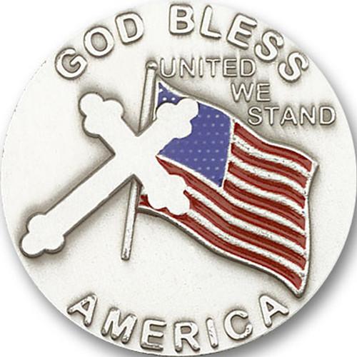 God Bless America Visor Clip | Multiple Finishes Available