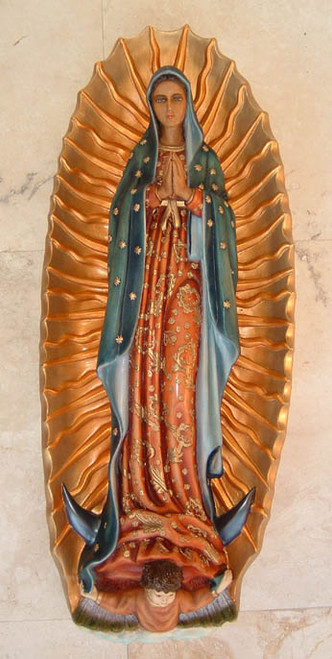 "40"" Our Lady of Guadalupe Wall Plaque 
