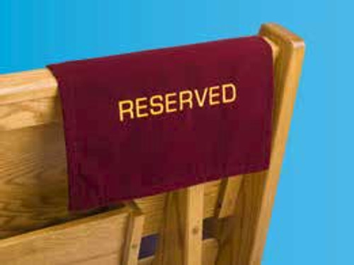 Velvet Reserved Pew Sign