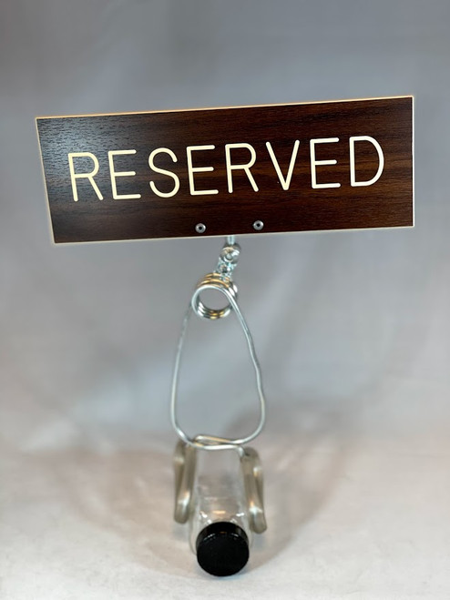 Pew Clamp Reserved Sign
