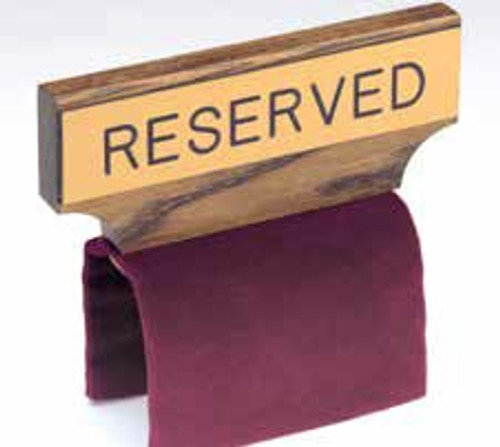 Flexible Fabric Pew Reserve Sign | Multiple Colors Available