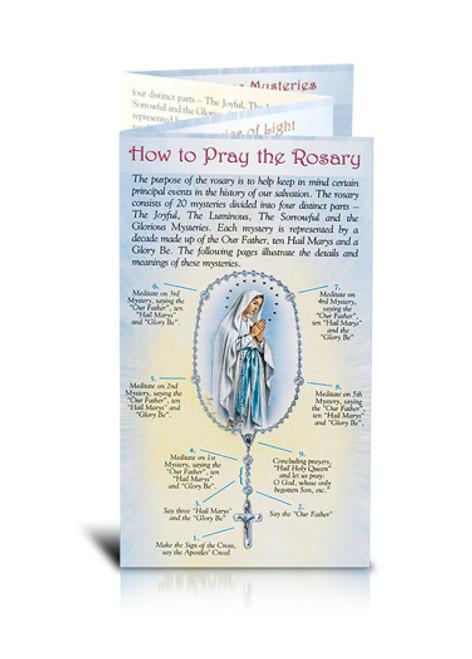Deluxe Pray The Rosary Pamphlet | Laminated Heavy Stock