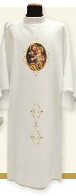 #644 Printed St. Joseph Dalmatic | 100% Polyester