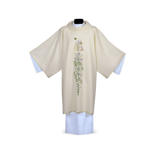 #6092 Year of Saint Joseph Patris Corde Dalmatic | 100% Polyester | All Colors