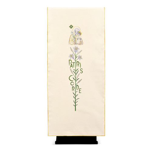 #6092 Year of Saint Joseph Patris Corde Lectern Cover | 100% Polyester | All Colors