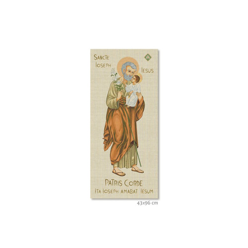 "#6092 Year of Saint Joseph Patris Corde Small Tapestry | 17"" x 38"""