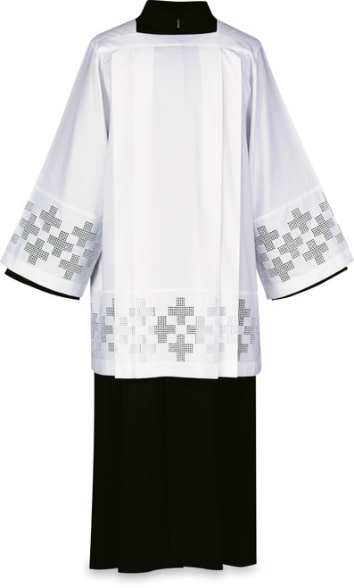 #3445 Embroidered Crosses Surplice | Poly/Viscose | Made in Belgium