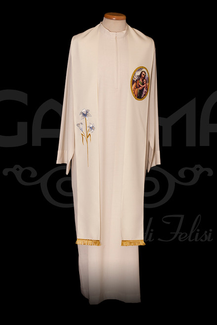 #321 Printed & Embroidered Saint Joseph Stole | 100% Polyester