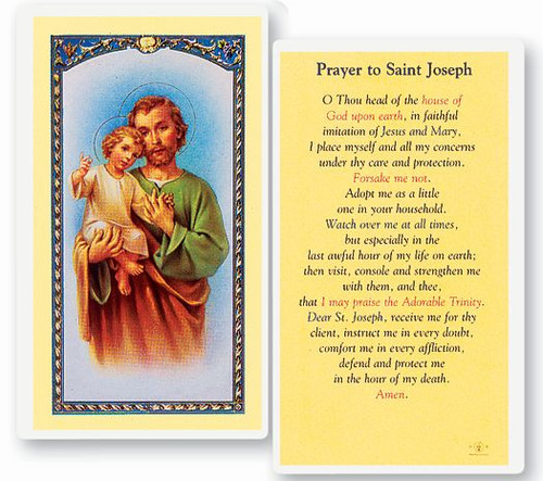 Prayer to Saint Joseph Holy Card