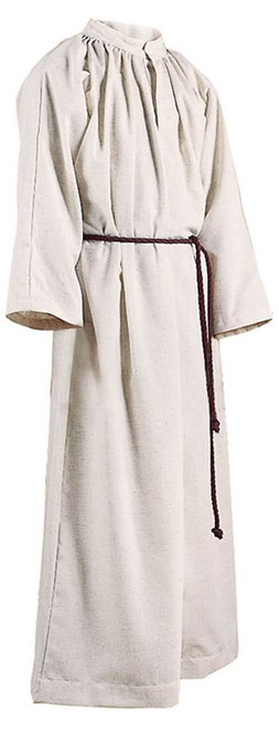#210 Flax Server Alb with Hood   Cinctures Included   Poly/Cotton
