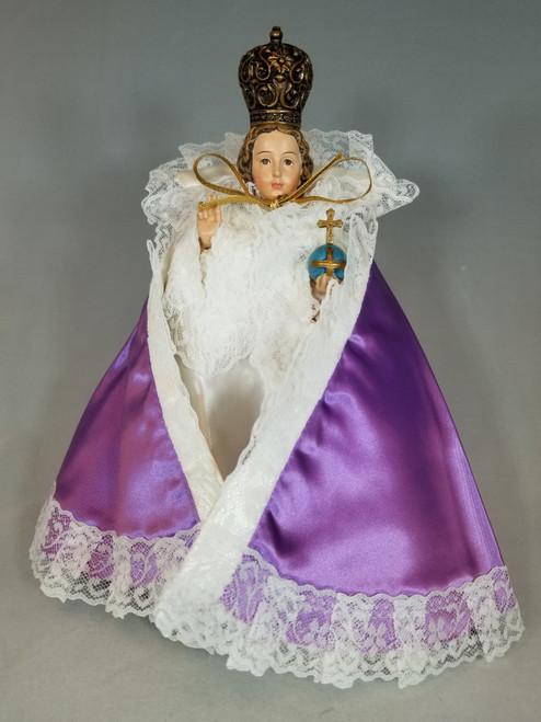 "Purple Infant of Prague Dress | Satin | 7"" - 10"""