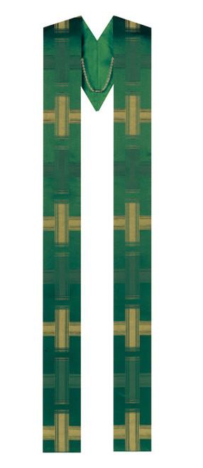 #50-40 Inset Cross Overlay Stole | 100% Lightweight Viscose| All Colors