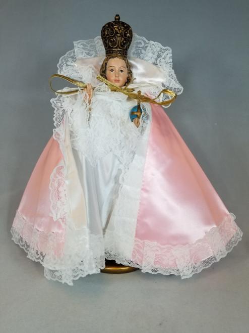 """Pink Satin Infant of Prague Dress for 7"""" Statue"""