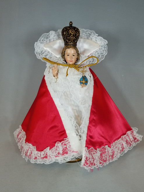 "Red Infant of Prague Dress | Satin | 7"" - 10"""