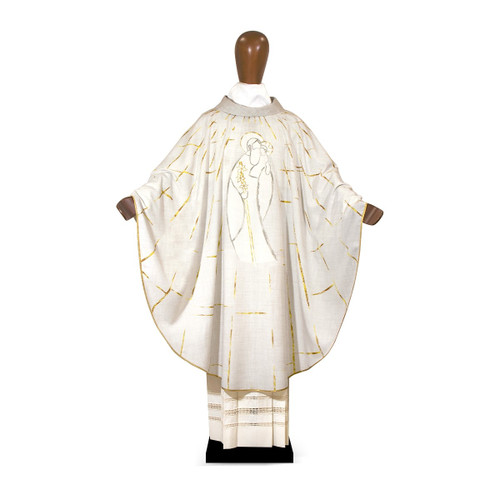 #6093 Year of Saint Joseph Printed Chasuble | 100% Polyester | Made in Italy