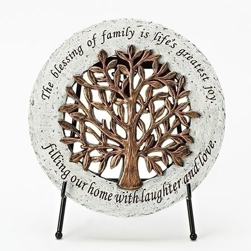 "6.5"" Tree of Life Garden Stone with Easel 