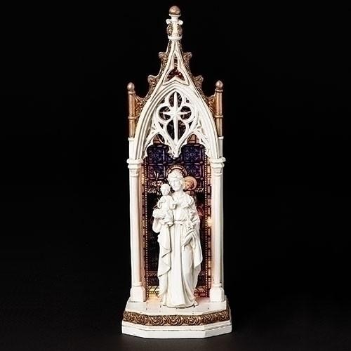 "11.75"" Saint Joseph LED Arch Window Figure | Resin"