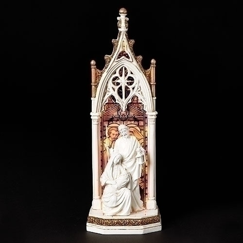 "11.75"" Holy Family LED Arch Window Figure 