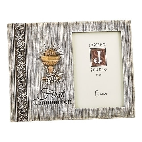 """7.5"""" First Communion Distressed Picture Frame 