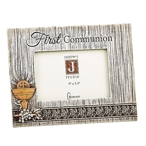 """6.5"""" First Communion Distressed Picture Frame 