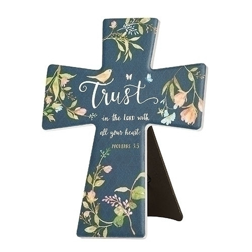 "7.75"" Trust In The Lord Table/Wall Cross 