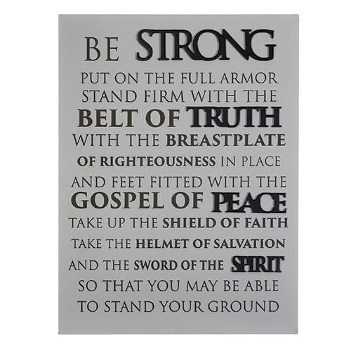 """16"""" Armor of God Plaque"""
