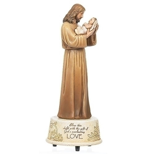 "8.75"" Jesus Loves Me Musical Figure | Resin/Stone"