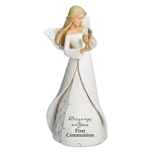 "7"" First Communion Angel Figure | Resin"