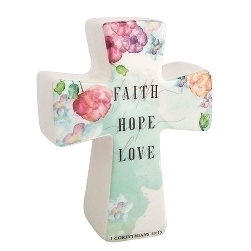 1 Corinthians 13:13 Prayer Cross | Place Prayers In Cross | Porcelain
