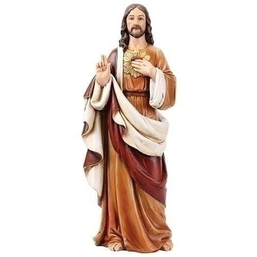 "24"" Sacred Heart of Jesus Figure | Resin/Stone"