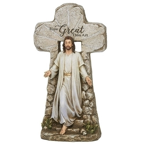 """15.25"""" Jesus Rising from the Tomb Color Figure 