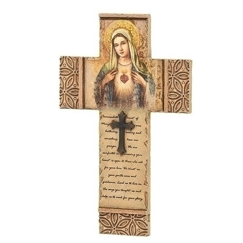 """8"""" Immaculate Heart of Mary Cross 
