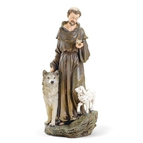 """10"""" St. Francis with Animals Figure 