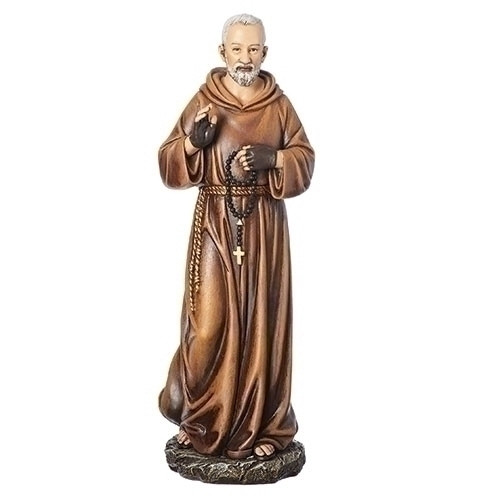 "10"" Padre Pio Figure | Renaissance Collection | Resin/Stone"