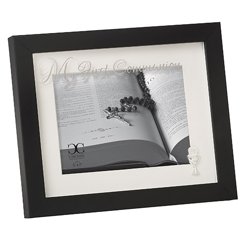 """8"""" First Communion Black Shadowbox-Style Picture Frame 