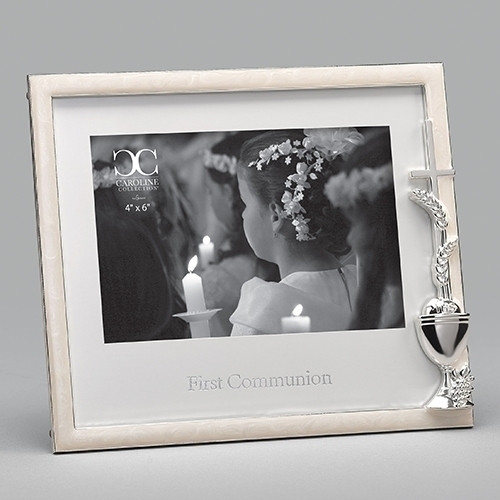 """Wheat & Chalice Emblem First Communion Frame 