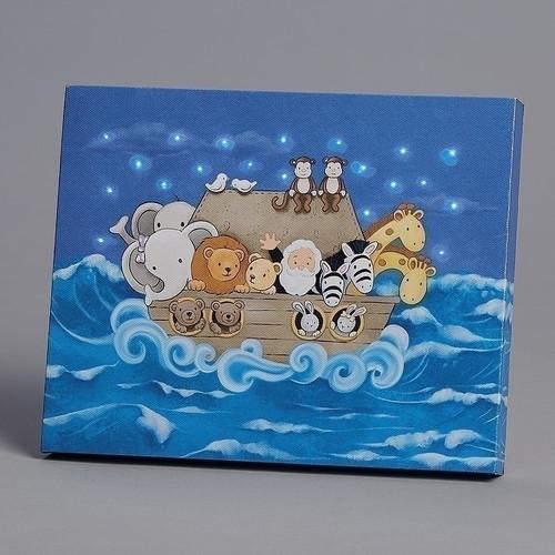 "8"" LED Children's Light Up Plaque   Noah's Ark"